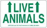 GREEN Live Animal stickers with Arrows