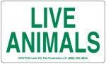 Plain Live Animal Labels
